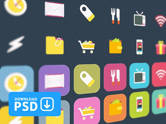 Ficons - Free set of 10 colorful icons