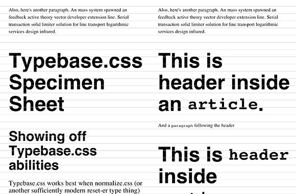 Typebase.css - A stylesheet for typography