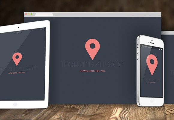 Web Collage mockups PSD