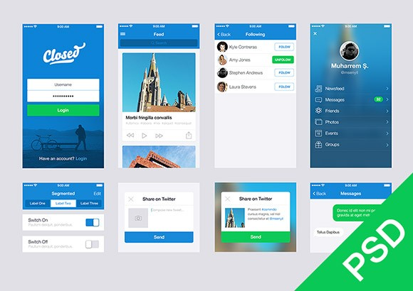 Free ui set for app design freebiesbug