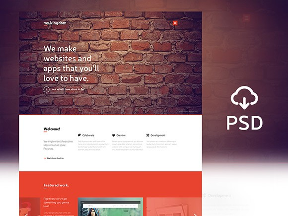 my.kingdom - One page PSD template