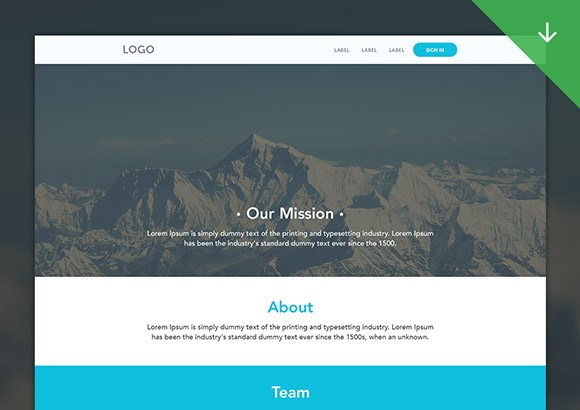 Clean web template PSD