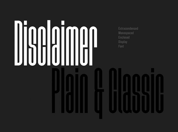 Disclaimer Font Download