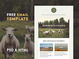 Green Village - HTML Email template