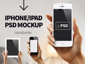 iPhone/iPad PSD mockup
