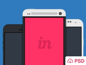 8 flat Android & iPhone mockups