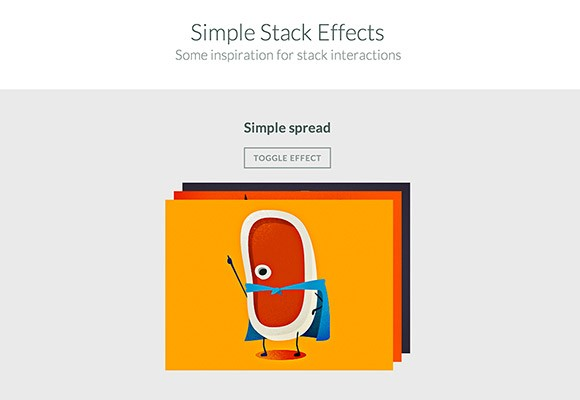 Simple stack effects with CSS