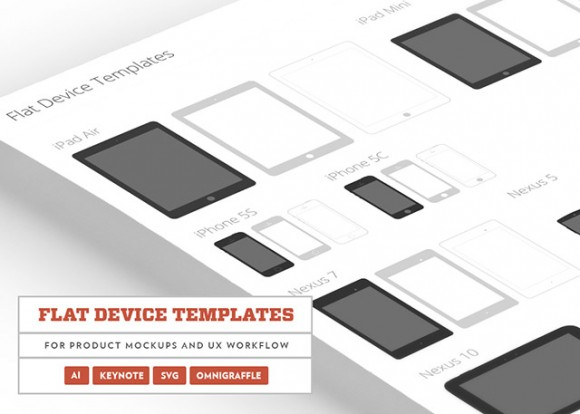 Flat devices templates PSD