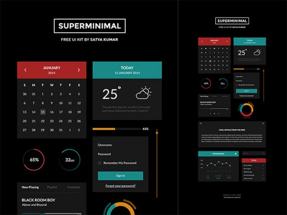 Superminimal - Free UI Kit