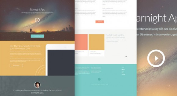 Starnight - PSD website template