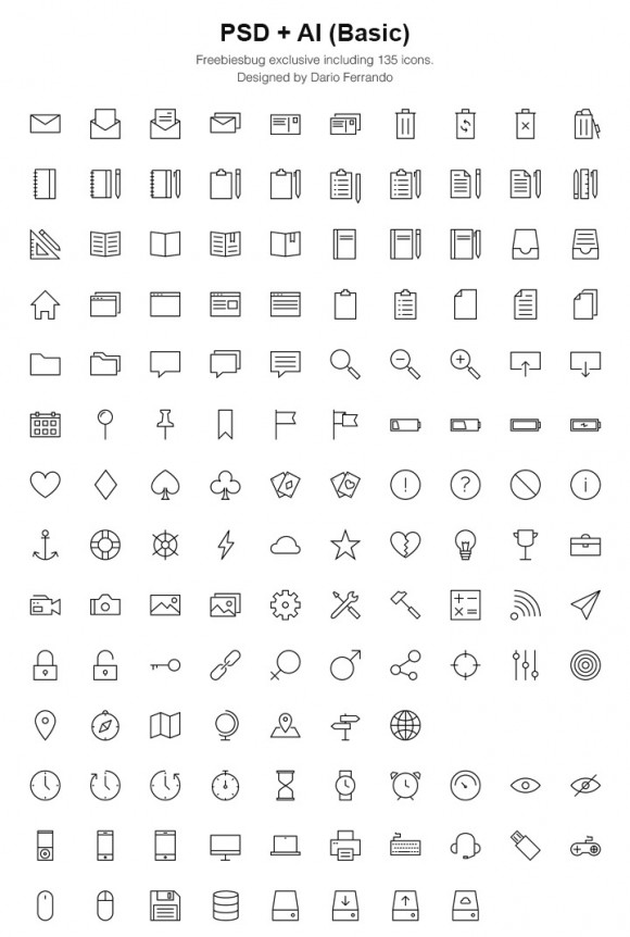 Linea - Free PSD icon set
