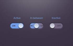 On/off radio button PSD