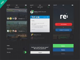 Re - Free UI kit for apps