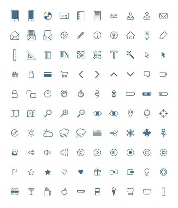 100 simple icons big