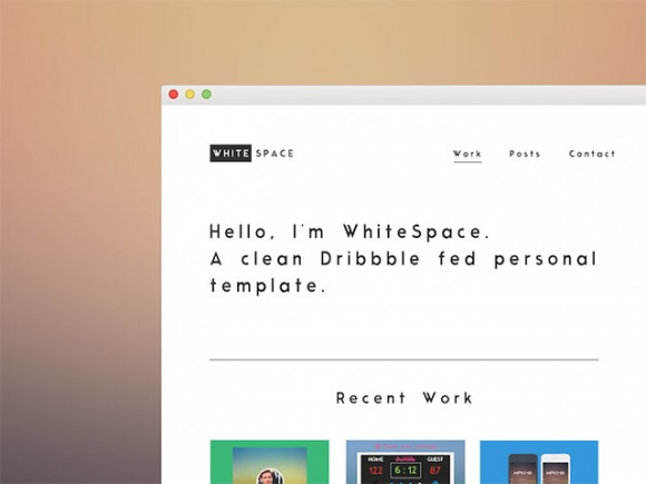WhiteSpace theme free PSD