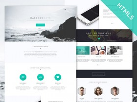 Halcyon days - Free HTML5 website template