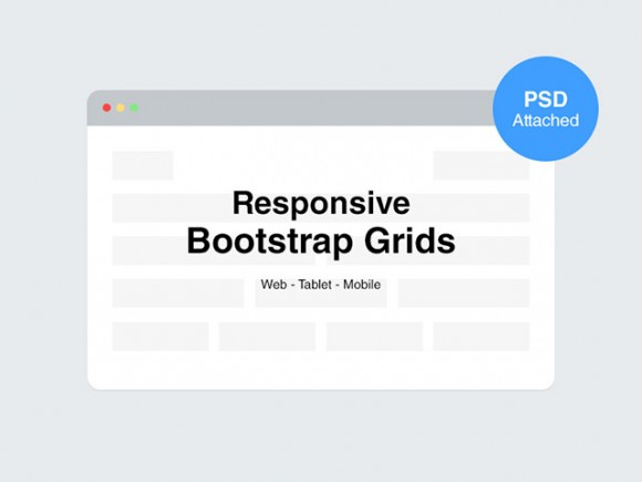 Responsive Bootstrap grids - PSD