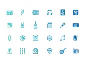 Musicons - Free PSD music icons