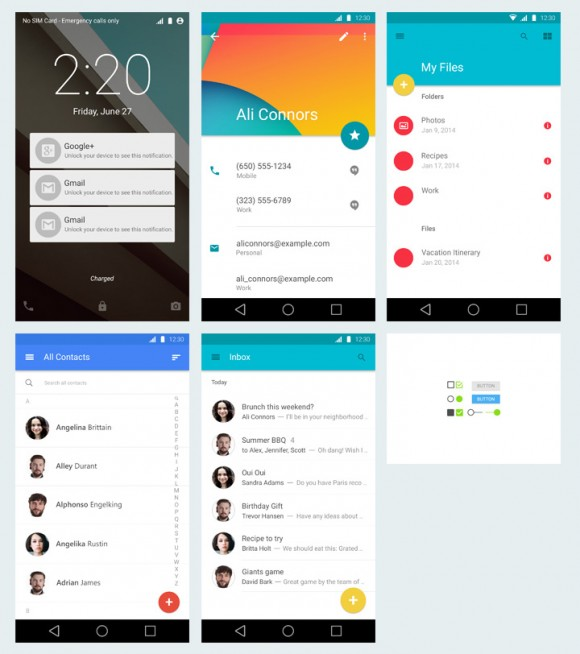 Android Material Design detailed view