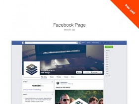 Facebook page PSD mockup