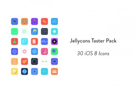 Jellycons - 30 Sketch iOS8 icons