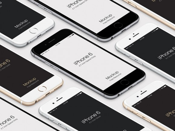 iPhone 6 isometric mockups