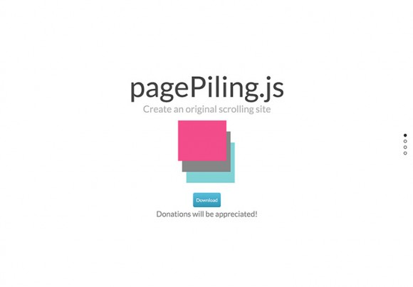 pagePiling.js - Plugin for scrolling sites
