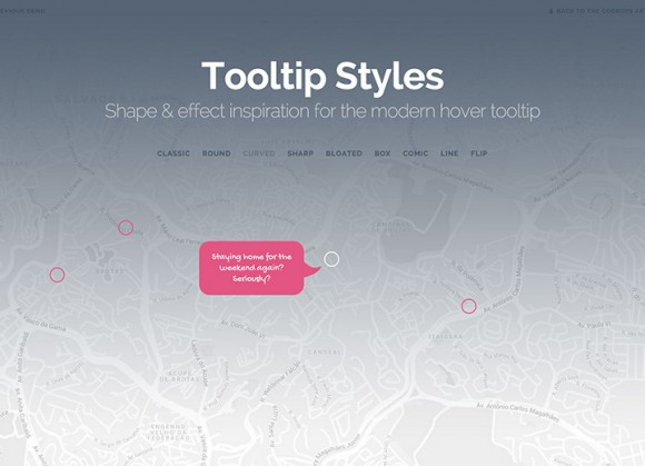 Tooltip styles collection - CSS + SVG