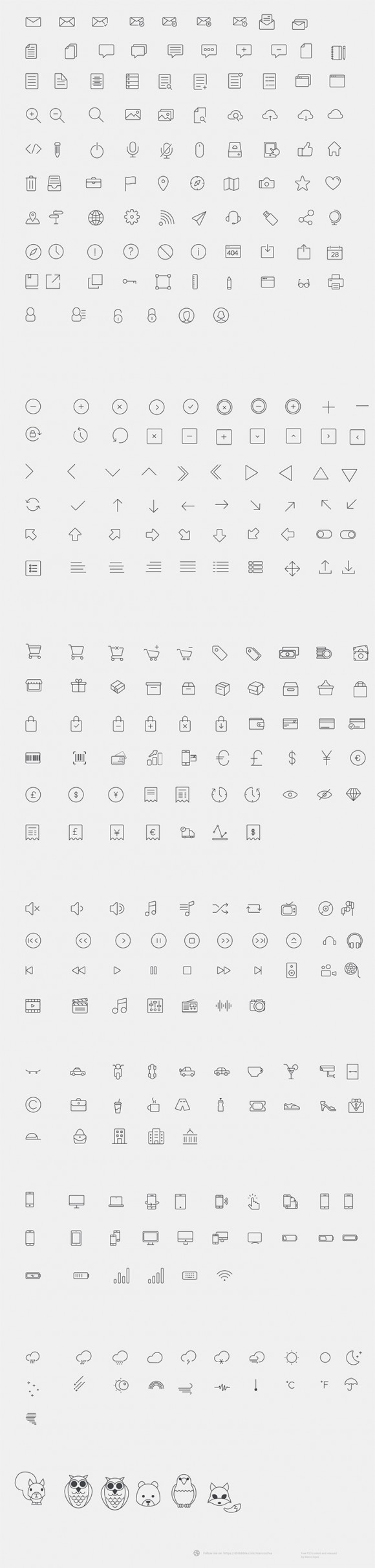 300+ line icons - Detailed image