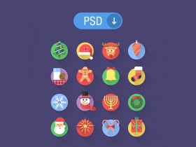 Christmas is just around the corner and here is a little freebie containing 16 flat Christmas icons. Free PSD designed by Adrian Goia.