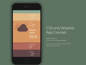 CSS-only weather app concept