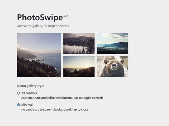 PhotoSwipe - JS photo gallery