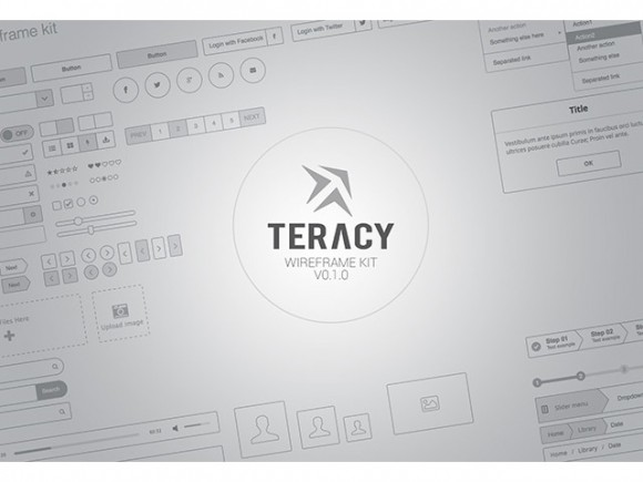 Teracy wireframe kit for Sketch
