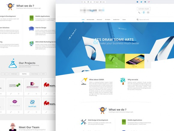 Agency website template - PSD