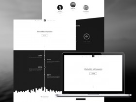 B&W website template - PSD