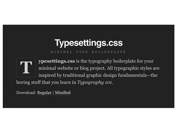 Typesettings.css - A type boilerplate