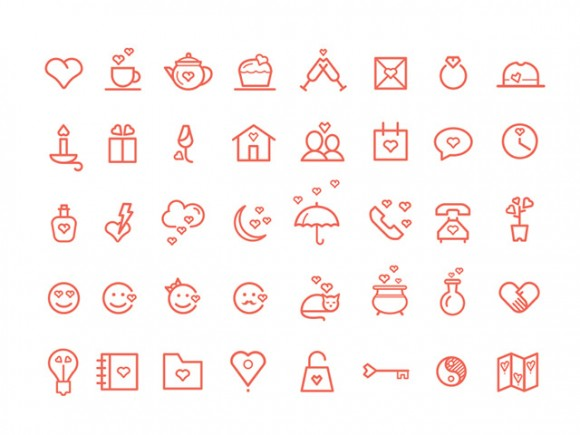 40 St Valentine's Day icons