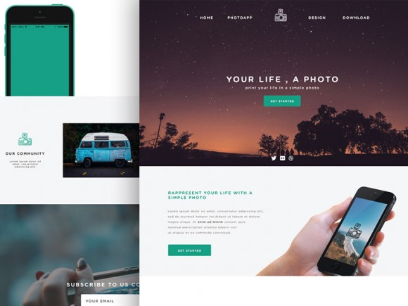 Phototime - PSD website template