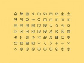70 PSD simple icons