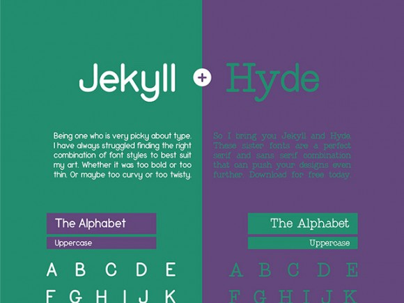 Jekyll and Hyde free font