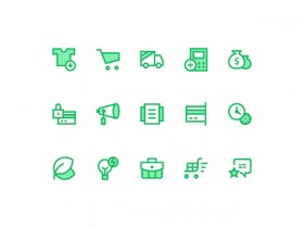 40 free ecommerce icons - PSD + Ai