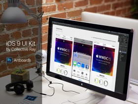 iOS 9 UI kit - Photoshop CC 2015