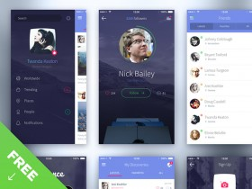 iPhone 6 UI kit PSD