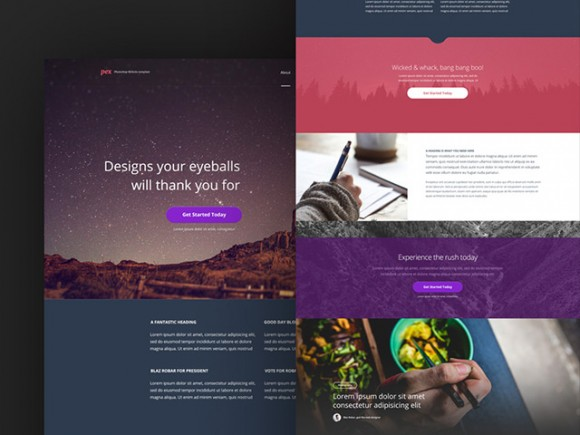 Pex - Free PSD website template