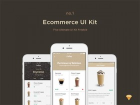 E-commerce free UI kit for Sketch