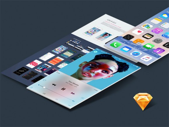 iOS 9 UI kit for Sketch