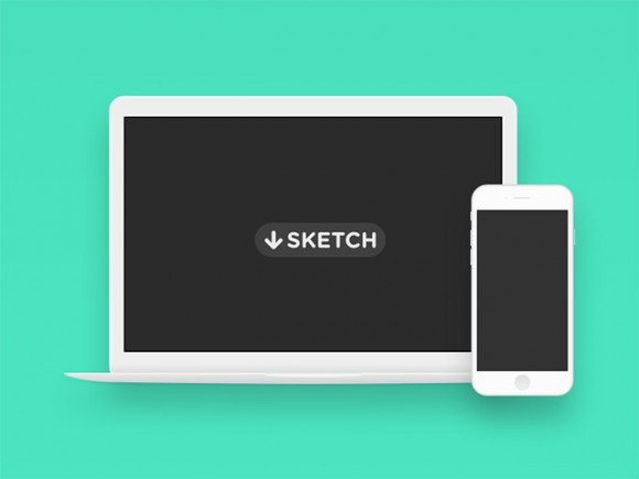 Minimal Macbook & iPhone 6 mockups