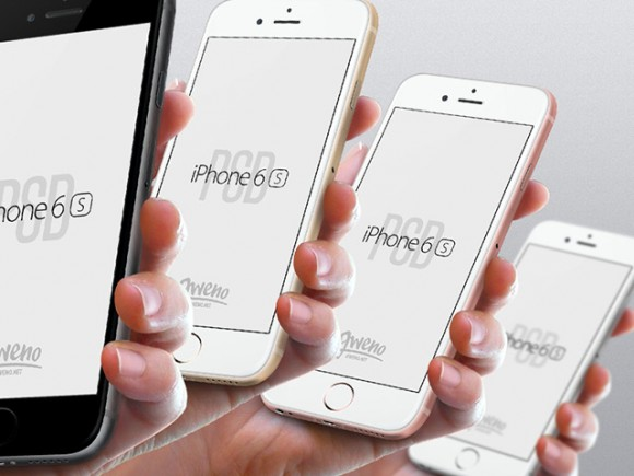 iPhone 6s hand view mockups