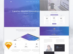 Land.io - Landing page UI kit