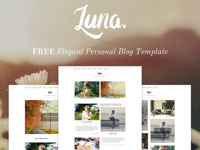 http://cdn.freebiesbug.com/wp-content/uploads/2015/09/luna-psd-blog-template.jpg